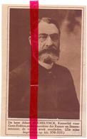 Orig. Knipsel Coupure Tijdschrift Magazine - Gent - Overlijden Albert Mechelynck , Minister Van Staat - 1924 - Zonder Classificatie