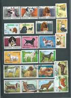 Lot De 23 Timbres , Chiens  Divers Oblitérés -  Pal 3706 - Dogs