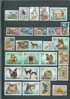 Lot De 27 Timbres , Chiens  Chats , Papillons Divers Oblitérés -  Pal 3805 - Dogs