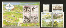 Aland 1985/97 - Petit Lot De 10 Timbres MNH - 2 Blocs - Aland