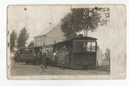 Haine-Saint-Pierre Tram à Vapeur Avec Conducteur, Receveur Et Passagers CPA Photo 1910 - La Louviere