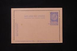 BELGIQUE - Entier Postal Carte Lettre Pour L 'Etranger, Non Circulé - L 88353 - Cartas-Letras