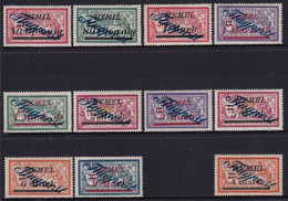 MEMEL 1922 Occupation Airmail Sc C8-17,19 Mint Hinged - Litouwen