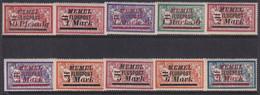 MEMEL 1922 Occupation Airmail Sc C20-29 Mint Hinged - Litouwen