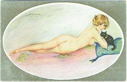 Illustrateur : MEUNIER. Le Nu Moderne. Femme Nue Et Chat. - Meunier, S.