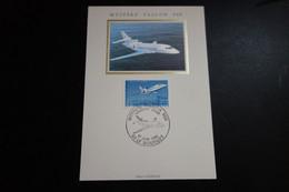 France - Premier Jour - FDC -carte Maxi  Mystere Falcon 900 - 1985 - 1980-89