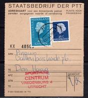 Adreskaart Sportcentrum Utrecht 1973 (p67) - Briefe U. Dokumente