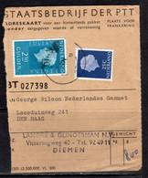 Adreskaart Gerg Wilson Gasmet Loosduinseweg Den Haag (p55) - Briefe U. Dokumente
