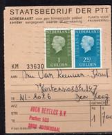 Adreskaart AVON Benelux Hortensiastraat Den Haag 1973 (p52) - Briefe U. Dokumente