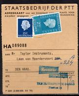 Adreskaart 1973 Taylor Instruments  Laan Van Meerdervoort Den Haag (p54) - Briefe U. Dokumente