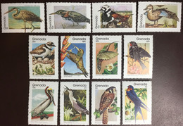 Grenada 1989 Birds Basic Set MNH - Sin Clasificación