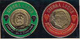 Sierra Leone: 1966   First Sierra Leone Gold Coinage Commemoration Set    SG398-409     Used - Sierra Leone (1961-...)