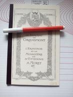LIMOUSIN BERCEAU DE GRANDMONT ERMITAGE MONASTERE ST ETIENNE MURET DELAFONTAINE DESFONTAINES Reprint Ex Libris De Vasson - Limousin
