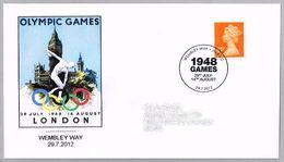 OLYMPIC GAMES LONDON 1948. Wembley Way 2012 - Summer 1948: London