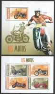 ST2870 2013 NIGER TRANSPORT MOTORCYCLE LES MOTOS 1KB+1BL MNH - Moto