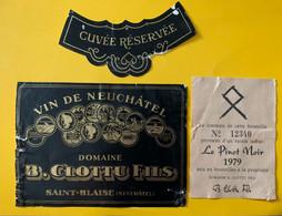 18182 - Vin De Neuchâtel Pinot Noir 1979 Domaine B.Clottu Saint-Blaise - Otros