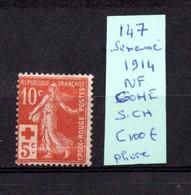 MAURY N° 147 SEMEUSE NEUF SANS TRACE DE CHARNIERE (pliure )   COTE 100 € Lot N° 116 - 1921-1960: Période Moderne