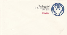 EP The Great Seal Of The United States 1782 - 1982 USA 20c - 1961-80