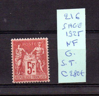 MAURY N° 216 SAGE 1925   NEUF SANS TRACE DE CHARNIERE  COTE 280 € Lot N° 118 - 1921-1960: Période Moderne