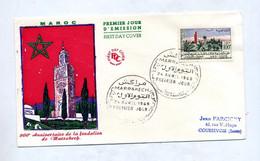 Lettre Fdc 1960 Fondation Marrakech - Morocco (1956-...)