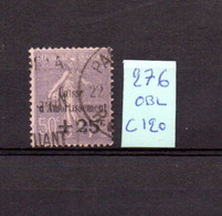 MAURY N° 276 CAISSE D'  AMORTISSEMENT  OBLITERE   COTE 120 € Lot N° 120 - 1921-1960: Période Moderne