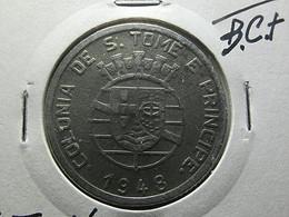 Portuguese S. Tomé E Príncipe 1 Escudo 1948 - Portogallo