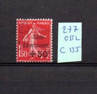 MAURY N° 277  CAISSE D'  AMORTISSEMENT  OBLITERE   COTE 135 € Lot N° 121 - 1921-1960: Période Moderne