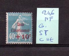 MAURY N° 246  CAISSE D'  AMORTISSEMENT NEUF SANS TRACE DE CHARNIERE   COTE 11 € Lot N° 123 - 1921-1960: Période Moderne