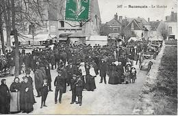 36 - Indre - Buzancais - Le Marché - CPA Très Animée En Très Bon état Postée En 1910 éditeur Th. G. - Autres Communes