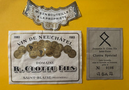 18191 -  Neuchâtel  1983 Domaine R.Clottu Fils Saint Blaise - Otros