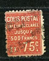 FRANCE -  COLIS POSTAUX 1933-34 - 75c ROUGE -  Yt  N° 98 Obli. - Oblitérés