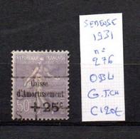 MAURY N° 276 SEMEUSE 1931  OBLITERE     COTE 120 € Lot N° 146 - 1921-1960: Période Moderne