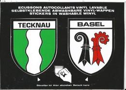 CPSM -- Blason - Autocollant- Suisse - Schweiz - Basel - Bale  - Tecknau - BL Bâle-Campagne