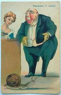 "Cartolina Humor - ""Pescecane In Ribasso"" - Humour"