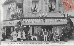 36 - Indre - Saint Gaultier - Lot De 4 Cartes - Café Des Sports - Louis Martin - 1906 Cliché Bonot Très Bon état - Autres Communes