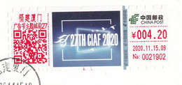 "China 2020, ATM, ""The 27th China International Advertising Festival"" On Postal Used Cover, Arrival Postmark - Brieven En Documenten"