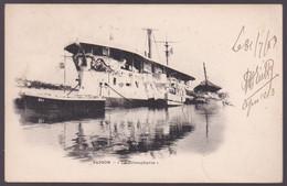 Indochine - Saigon - La Triomphante - Paquebot - Cachet Paquebot : Ligne N PAQ. FR N° 6 - Timbre 3 Et 5 -  1903 - Usados