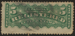 CANADA Registration 1875 SG R6 5c Green Used - Recomendados