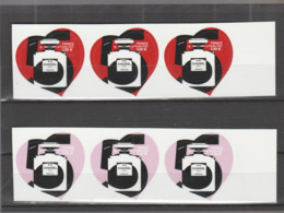 FRANCE / 2021 / Y&T N° AA 1954/1955 ** : Chanel N°5 (2 TP Adhésifs De Feuille) X 3 Paires Dont 1 BdF D - Adhesive Stamps