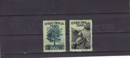 1956, MOIS DE LA FORET MI No 1580/1581 Et Yv No 1451/1452 Used - Eisenbahnen