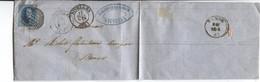 REF3405/ TP 7 S/LAC D'Alacantara & Meur C.Nivelles 1861 + P89 > Namur C.d'arrivée - Postmarks - Points
