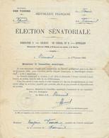 1926 / Election Sénatoriale Epinal / Convocation Conseil Municipal Pour Désigner Délégué / Mairie De Vioménil 88 - Documenti Storici