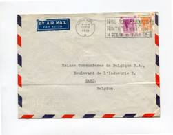 1951 Intraco Airmail Cover To Gand - Usines Cotonnières Gent - Box Cancel.. HONG KONG PRODUCTS 9TH EXHIBITION - Other