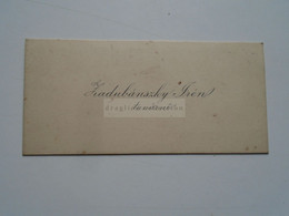 D176713 Carte Visite -Visinting Card  Ca 1920- Hungary Hongrie  Budapest   -  ZadubánszkyIrén  Teacher - Cartoncini Da Visita
