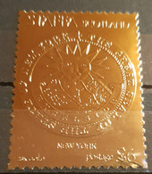 STAFFA SCOTLAND THE GREAT SEAL OF THE STATE OF NEW YORK STAMP 23K GOLD - Sin Clasificación