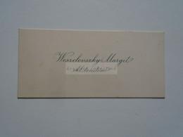 D176716  Carte Visite -Visinting Card  Ca 1920's -    Weszelovszky Margit  Tanítónő  - Hungary Hongrie     Budapest - Visiting Cards