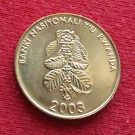 Rwanda 5 Franc 2003 Ruanda UNC ºº - Rwanda