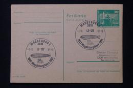 ALLEMAGNE - Entier Postal Avec Oblitération Temporaire Zeppelin De Magdeburg En 1981 Pour Berlin - L 88428 - Postales - Usados
