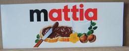 ADESIVI NUTELLA NOMI, MATTIA - Nutella