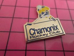 1216A Pin's Pins / Beau Et Rare : Thème SPORTS / CHAMONIX HOCKEY CLUB - Sport Invernali